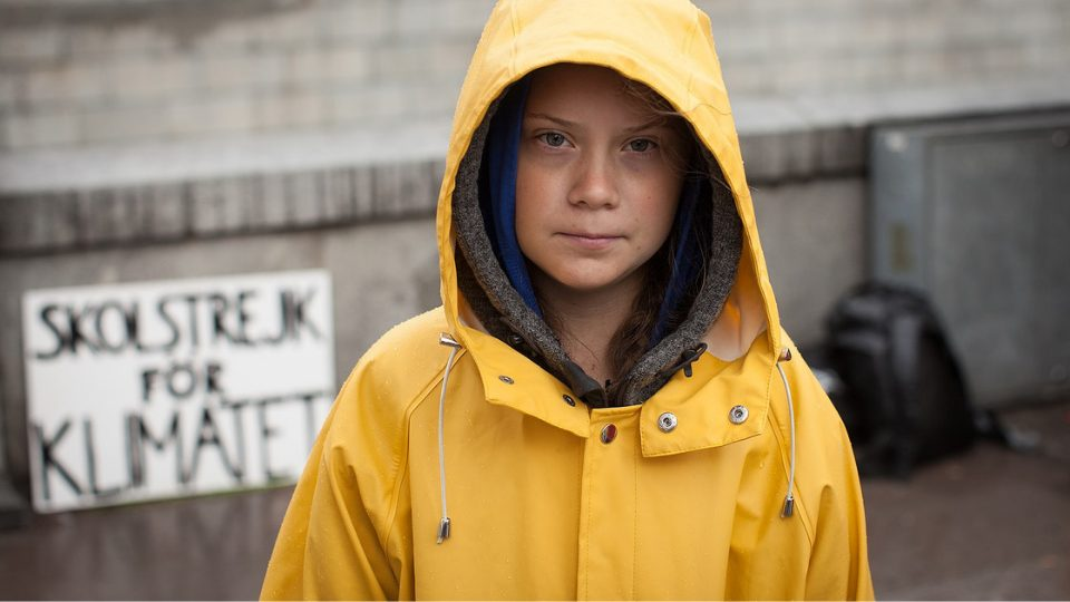 greta thunberg trying to save the planet