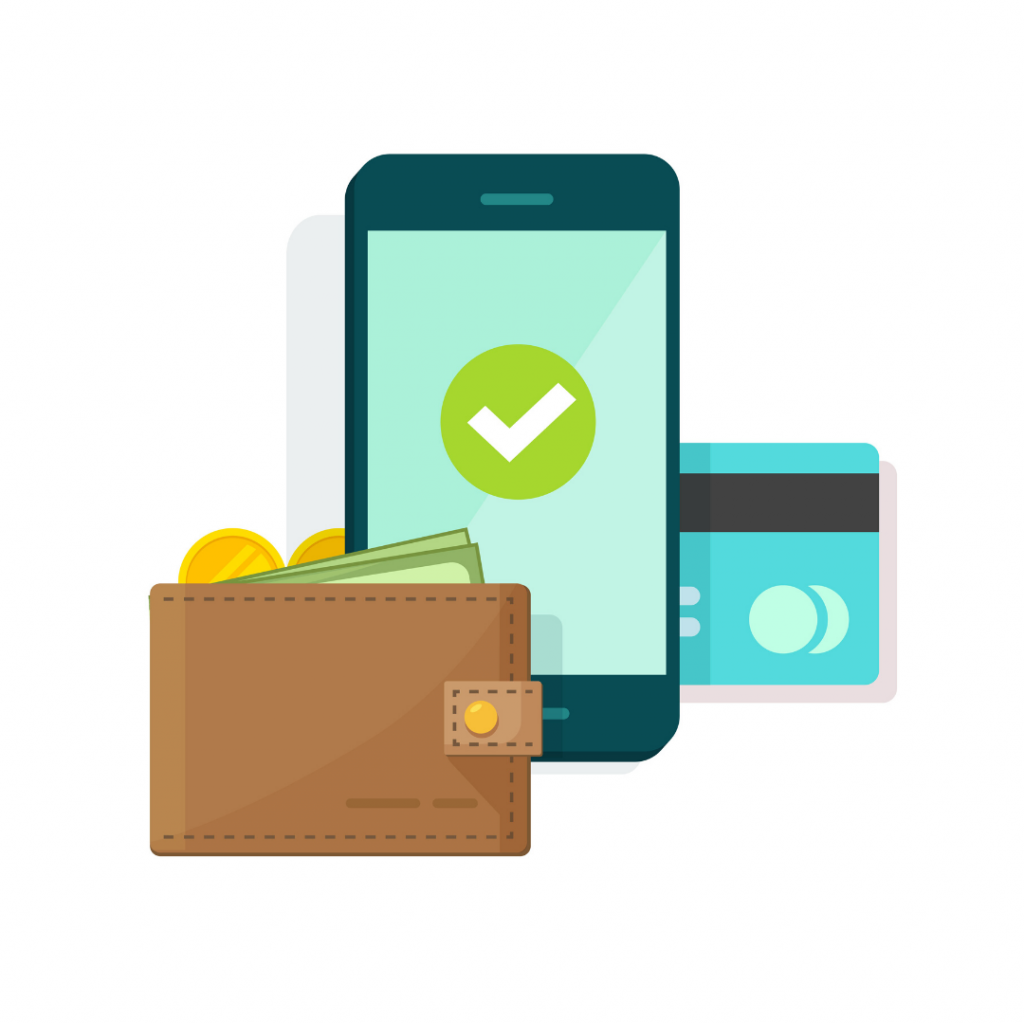 Wallet, phone and car for a money saving app